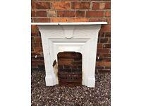 Vintage Victorian cast iron fireplace