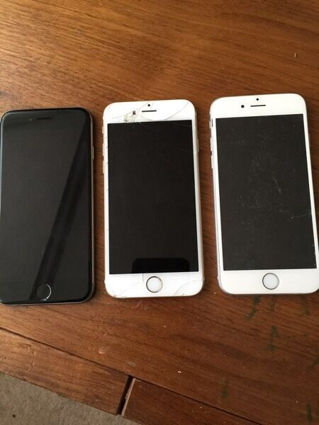 3 x iphone 6 All 64GB for parts only