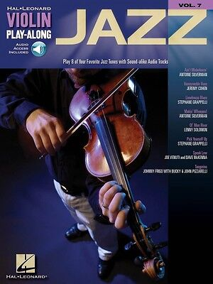 Jazz Sheet Music Violin Play-Along Book and Audio NEW -