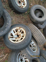 4- steel ford ranger rims with tires