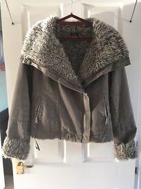Bench fur lined jacket. Size medium.