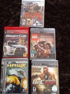 Plusieurs jeux pour ps3 et Wii