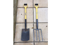 Garden Shovel and Fork set