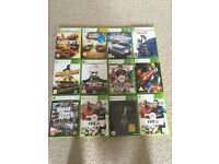 Xbox 360 and 19 games, 3 controllers