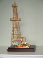 Gold plated Oil Well & Derrick