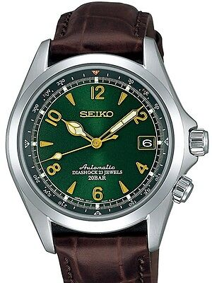 NEW SEIKO SARB017 Mechanical Alpinist Automatic Men's Leather Band Watch*Offer