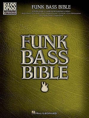 FUNK BASS GUITAR BIBLE TAB SHEET MUSIC SONG BOOK
