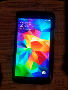 Samsung Galaxy S5 with charger & new case Redwood Park Tea Tree Gully Area Preview