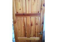 5 Pine panel doors