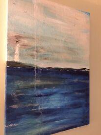 Painting on canvas sea