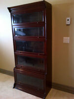 Classic Mahogany Lawyer's bookcase with bevelled glass