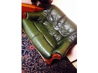 Quality Italian Leather Sofas 3 2 and 1 Seater Needs Recovering or can Use with Throw Can Deliver