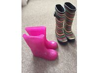 Girls wellie boots - size 10