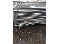 🔨🌟New Metal Round Top Heras Style Fence Panels