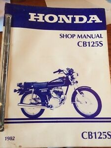 1982 Honda CB125S Shop Manual Regina Regina Area image 1