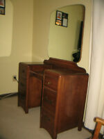 Antique Vanity with Mirror for $100 or best offer