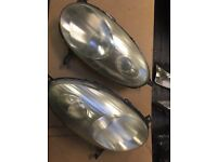 Nissan micra headlights pair driver & passenger