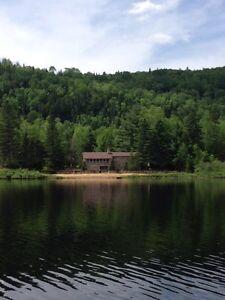 Magnifique chalet sur le bord d'un lac