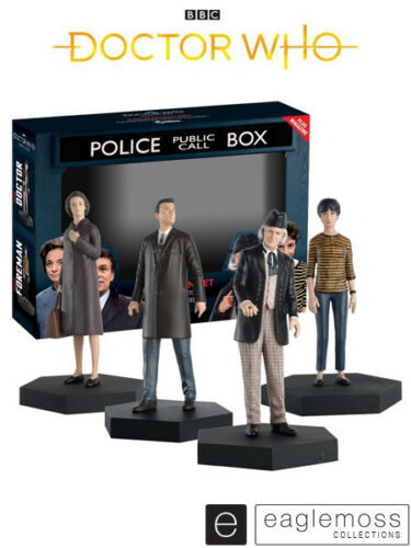 Eaglemoss Doctor Who First Doctor, Susan, Ian and Barbara Figurine Companion Set