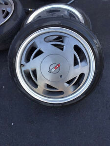 Corvette C4 wheels with 5x100 spacer/adapters