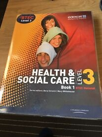Level 3 health and social care book