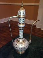 Brand New Beautiful East Indian Solid Brass Decanter