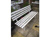 Garden Bench and Folding Table