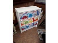 CHEST OF DRAWERS & BEDSIDE UNIT - DINOSAUR