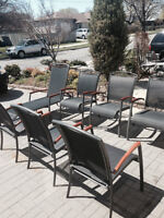 9 Piece Modern Patio Set - Excellent Condition!