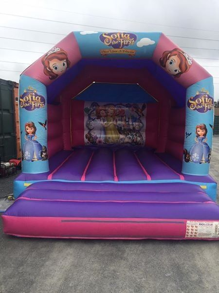 Bouncy Castle 12x15 for salein Belfast City Centre, BelfastGumtree - Andy J Leisure bouncy castle theme is princess Sofia can come with blower if sold at right price no hole no repairs in excellent condition just rotating stock can be seen up also comes with blower also
