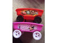 Toy wagons - Lightning McQueen/ Minnie Mousr