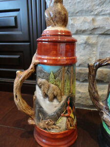 Selling Two Large Beer Steins Hand Painted Ceramic - $26 each Kitchener / Waterloo Kitchener Area image 5