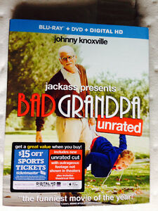 BAD GRANDPA BLU RAY & DVD COMBO UNRATED