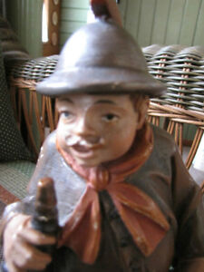 """Antique hand carved """" Night watchman"""" London Ontario image 5"""