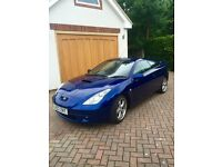 Toyota Celica 2002 1.8 VVT-i 140BHP Blue Leather interior 3dr Sports Coupe car Excellent condition