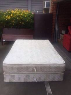 2xGood used / reasonable condition queen size base and mattress,