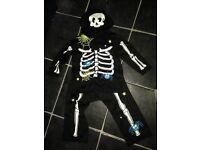 Skeleton fancy dress outfit