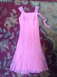 Pretty pink dress, girls' size 16, only worn once!