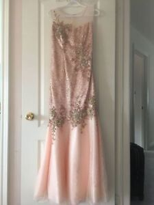 Peach Coloured Mermaid Dress for sale