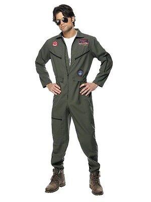 Top Gun Kostüm, Pilot Outfit,Karneval,Navy,Jetpilot,Sonnebrille, Pilotenbrille,L