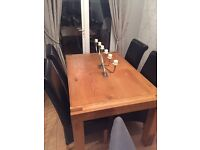 Black high back dining chairs
