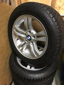 Amazing winter set, OEM BMW rims & 235/55R17 Dunlop tires