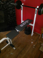 128 WEIDER BENCH AND WEIGHTS