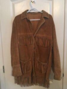 Vintage buckskin jacket-VGUC
