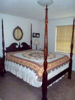 Cherry Wood Queen Bedroom Set