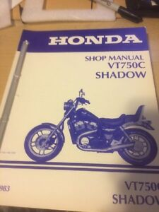 1983 Honda VT750C Shadow Shop Manual