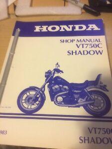 1983 Honda VT750C Shadow Shop Manual