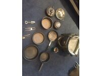 Job lot trakker and more kettles pans pots - camping fishing carp Etx