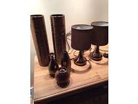 Bronze bundle,table lamps.