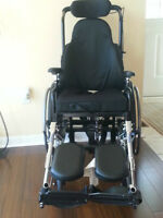 SUPER TILT WHEELCHAIR WITH SPECIAL FOOT REST